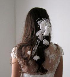 flores de seda + renda