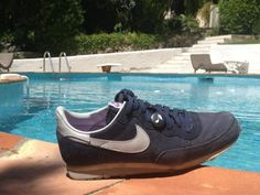 All you need is good music and a fresh pair of sneakers! (and a pool????) #rightfoot