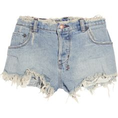 Ksubi Albuquerque cut-off denim shorts ($180) ❤ liked on Polyvore