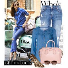 Get the Look: Olivia Palermo in Double Denim. Visit my blog www.forarealwoman.com   #blogger #fashion #denim #oliviapalermo #op #celebrities