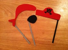 Pirate Party Favor Photo Booth Prop by BuyBillerman on Etsy, $10.00