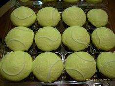 tennis cake ideas, tenni cupcak, balls, tenni parti, food, tennis cupcakes, recip, ball cupcak, dessert