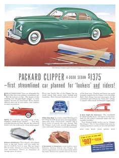 1941 Packard Clipper Ad ★。☆。JpM ENTERTAINMENT ☆。★。