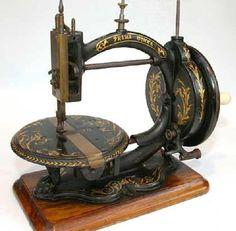 antiga máquina de costura.