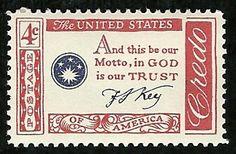 Francis Scott Key Credo US Postage Stamp