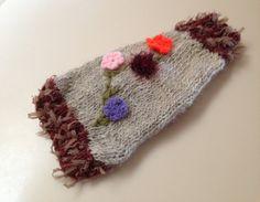 XS Hand Knit Lambs Wool Embellished Dog Sweater by RocknHotdog, $15.00