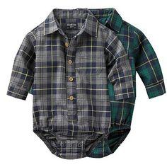 OshKosh B'gosh Plaid Flannel Bodysuit - Baby