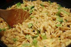 Skinny Baked Mac & Cheese w/ Broccoli