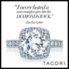 Zsa Zsa knows her diamonds