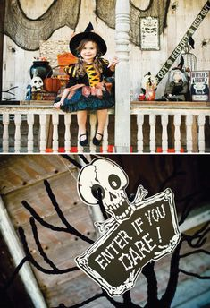 Creative Trick or Treat Halloween Porch Party