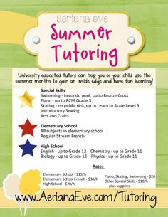 private tutoring flyer template .