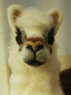 Artist Needle Felted Llama Sculpture   OOaK Llama by LaCharmour, $345.00