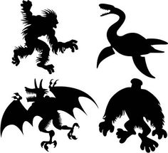 monster silhouettes | Flickr - Photo Sharing!