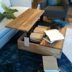 Rustic pop up coffee table
