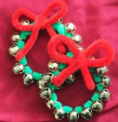 curious kid, kids christmas crafts, craft idea, wreath ornament, christma craft