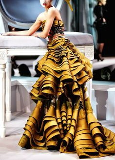 layers of ruffles dream dress, ruffl, crazy dresses, oscar dresses, gown