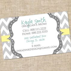 Personalized Mommy Calling Card Customized by InkaDinkDesigns, $7.00