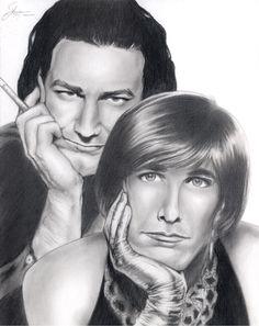 U2 - Bono with Edge in drag by WatchMoreTV.deviantart.com on @deviantART