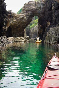 Sea Caves in Japan