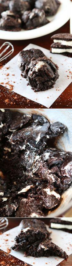 Chocolate Peanut Butter Nutella Oreo Cookies