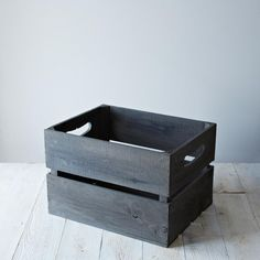 Provisions Replica Apple Crate in Gray Stain