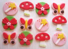 mushroom, the dot, woodland fairi, fondant idea, cupcak topper, fairies, cake idea, cupcake toppers, fondant cupcakes