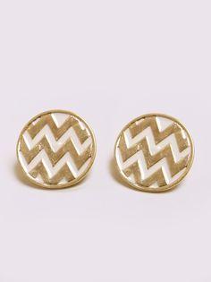 studs, overs chevron, style, accessori, stud earrings, chevron earring, chevron stud, jewelri, gold earrings