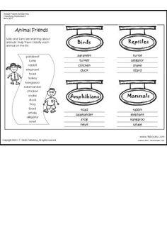 Classifying Animals on Pinterest | Vertebrates And Invertebrates, Ani ...