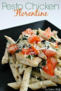 chicken florentin, family dinners, pesto chicken, new recipes, dinner menu