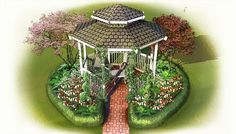 Keep a gazebo, pergola, or arbor from looking out of place. A pretty landscape will help integrate any structure into the garden. Click through for tips on how to make this space look great!