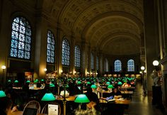 The Boston Public Library is the first publicly supported library in the US. It was established in 1848 and has since grown to its present collection size of 22 million items, which makes it the second largest library in the United States. The Central Library consists of two buildings, the Johnson Building and the McKim Building. The McKim building houses the library's research collection and exhibitions and was built in 1895. The research collection at McKim is made up of over 1.7 million rareties, including many medieval manuscripts, incunabula, early Shakespeare that includes a First Folio, colonial Boston records, a major Daniel Defoe collection, and the libraries of many famous men of history including John Adams, William Lloyd Garrison, and Nathaniel Bowditch.
