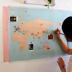 Deco Travel Map from Korea! Comes with stickers and pins to help you remember your journeys!