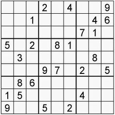 Free printable Word Search and Sudokus: Sudoku 34