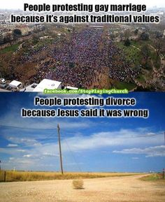 Divorce and Homosexuality. Is there truth in this picture? Why do you think homosexuality is highlighted more than other sins?