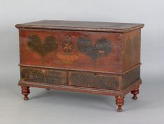 Pennsylvania painted dower chest dated 1798