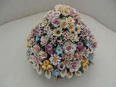 Capodimonte Floral Centerpieces   Capodimonte Flowers Centerpiece Made in Italy