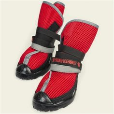 Neo-Paws Breathable Boots - (2 boots) Red - 2 Boots XS