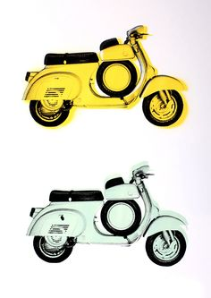 """Vespa SS"" by Rainer Taepper. 42 x 59cm Spraypaint/Screenprint. Ed of 25 S/N."