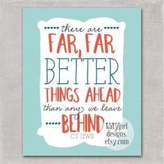 Better Things Ahead 8x10 Print. $15.00, via Etsy.