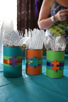 puzzle party decorations | Puzzle Party | YouNameItChicago | Ideas for Kids