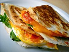 chili garlic breakfast quesadilla - Budget Bytes