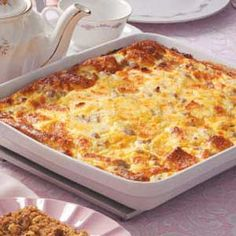 Sausage Egg Casserole - make and refrigerate overnight and bake in the morning.