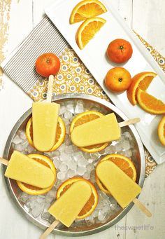 Vegan Orange Creamsicles | The Sweet Life