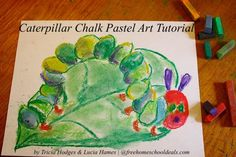 Caterpillar Chalk Pastel Art Tutorial
