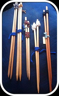 Wooden Hand Made Knitting needles