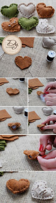 DIY Wedding Project - Felt Heart Pin Favors!  Find the full tutorial on WedLoft!