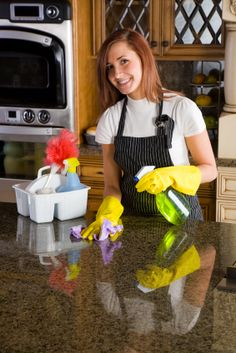 Homemade Granite Cleaning: All it takes is 25% alcohol, a few drops of dish soap such as Dawn and three parts water to make your homemade cleaning solution