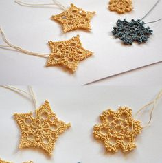 Free Crochet Snowflakes Ornaments Pattern