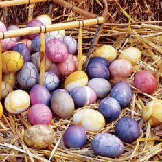 how to dye eggs natu
