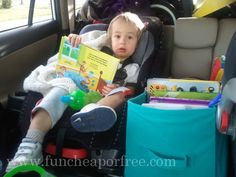 Tons of ideas for how to survive a road trip with kids. Some of these are sheer brilliance.